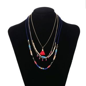 Boho chic layered necklace